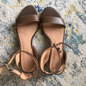 MADEWELL, Ankle Strap Sandals, Size 6.5